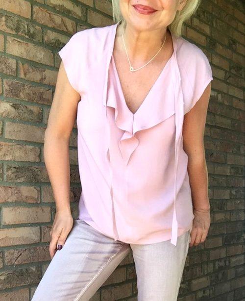Eine Volant-Bluse wie ich sie mag…